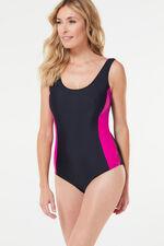 Contrast Panel Swimsuit