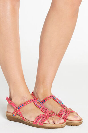 Cushion Walk Diamante and Stud Sandal