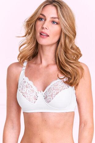 111507292bb Cotton Lace Trim Bra