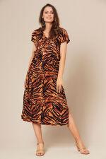 Grace By Eda Cap Sleeve Animal Print Dress