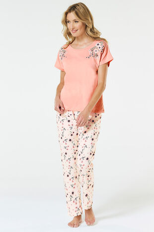 Embroidered Top Pyjama