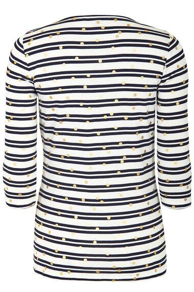 Stripe with Foil Spot T-Shirt