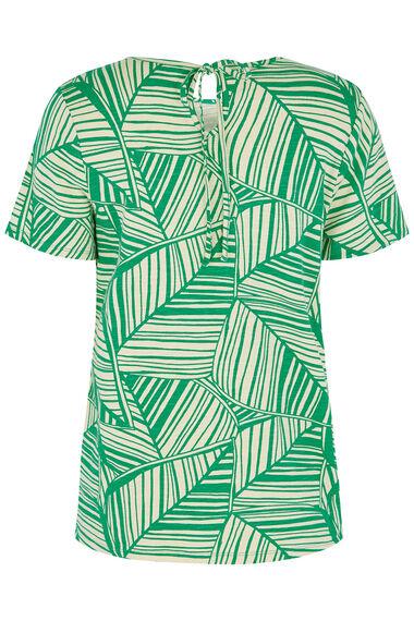 Leaf Linear Print T-Shirt