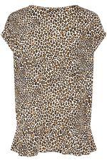 Salvari Leopard Print Ruffle Top