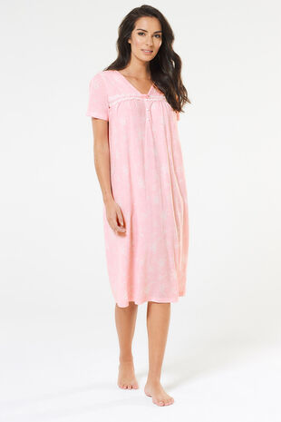 Pink Floral Classic Nightdress
