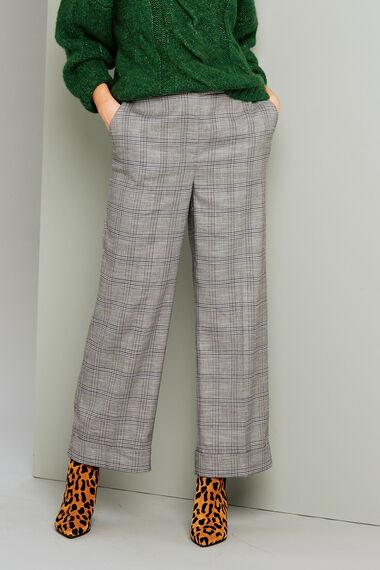 Salvari Check Trouser With Cuff