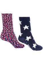 2 Pack Star Cosy Socks