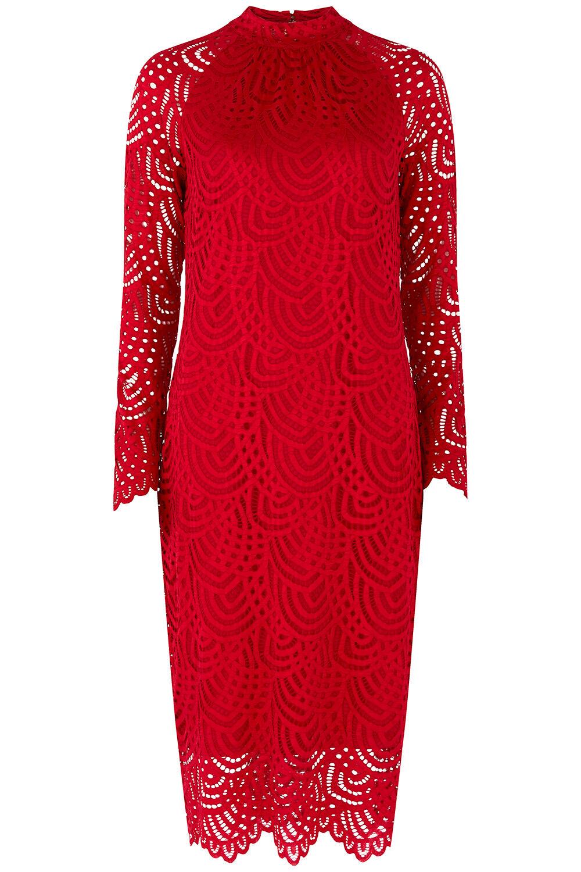 bellfield funnel neck lace dress
