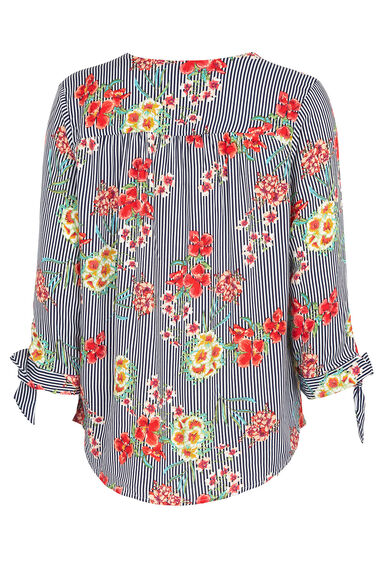Floral And Stripe Overhead Shirt