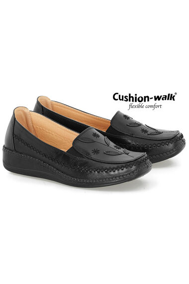 Cushion Walk Slip on Shoe with Floral Detail
