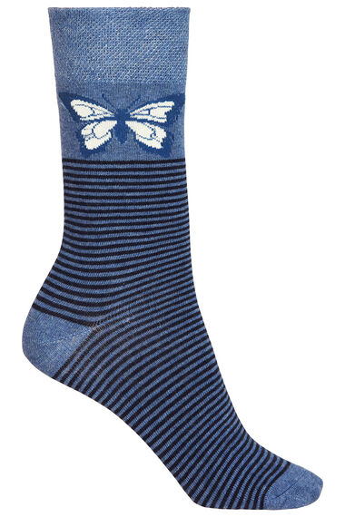 3 Pack Butterfly Printed Socks