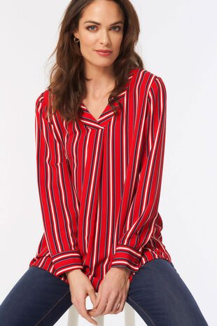 Stripe Overhead Blouse