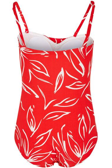 Floral Twist Bandeau Swimsuit