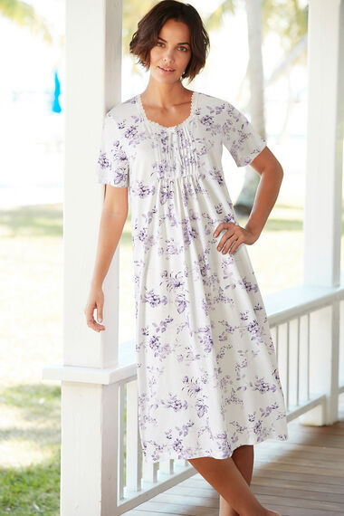 Large Purple Floral Nightdress