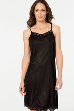Lace Trim Cami Strap Full Slip Dress
