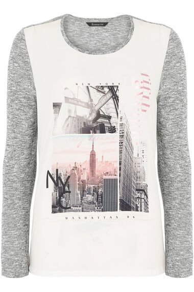 New York Woven Front T-Shirt