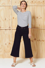 Nine To Six Wide Leg Cropped Jeans