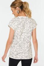 Linear Floral Print T-Shirt
