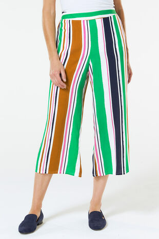 Stripe Wide Leg Crop