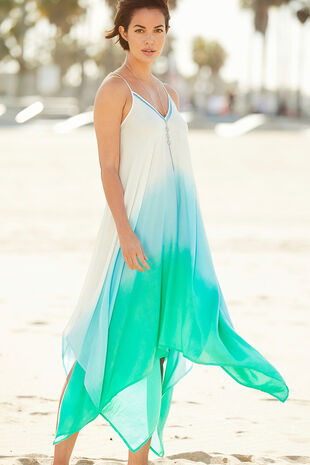 Dip Dye Hanky Hem Dress
