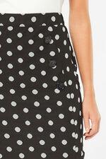 Spot Button Pencil Skirt