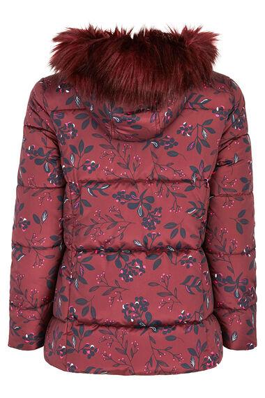 Short Printed Padded Coat