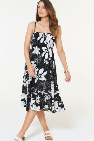 Lily Mono Print Skirt Dress
