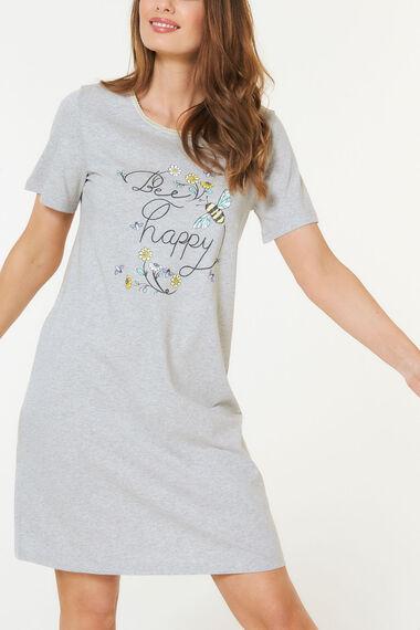 Bee Happy Round Neck Nightshirt