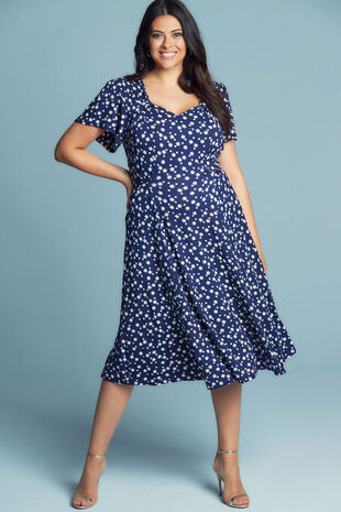Scarlett & Jo Floral Star 40's Dress