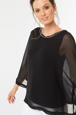 Kimono Sleeve Chiffon Top