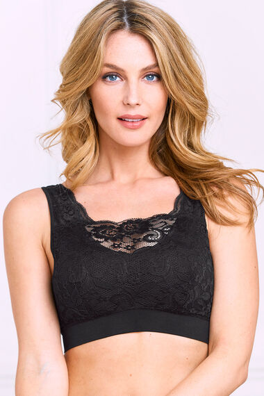 Smooth Curves Comfort Lace Panel Bra