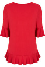 Frill Sleeve Jersey Top