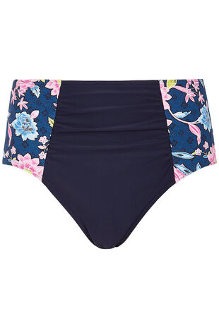 Floral Navy High Waisted Bottom