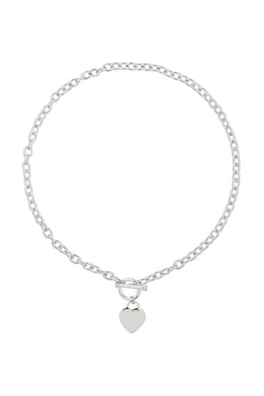Muse Heart T-Bar Necklace