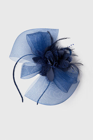 Muse Navy Flower Fascinator