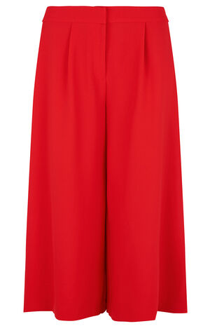 Red Crepe Culotte