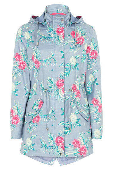 Printed Floral Waterproof Coat
