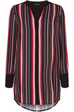 Stripe Bubble Crepe Shirt