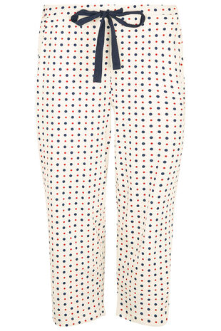 Mix & Match Spot Crop Pyjama Bottoms