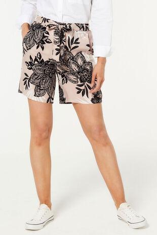 Floral Belted Short