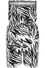 Zebra Print Playsuit