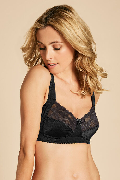 Wide Strap Non Wired Bra