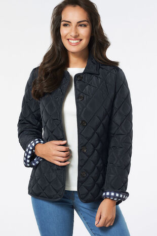 Button Front Quilted Jacket