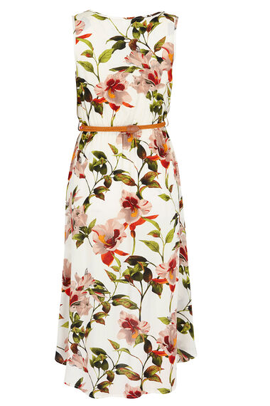 Izabel Belted Midi Dress