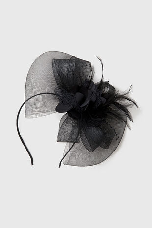 Muse Black Flower Fascinator