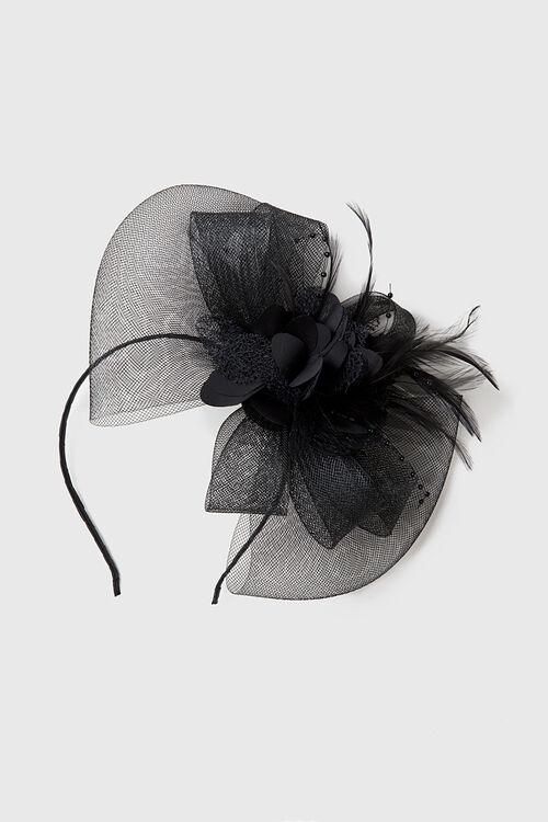 Muse Black Flower Fascinator