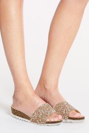 Krush St. Tropez Glitter Mule Sandal