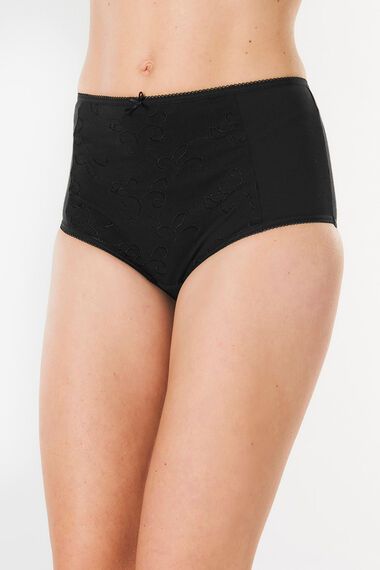 Embroidered Front Full Brief