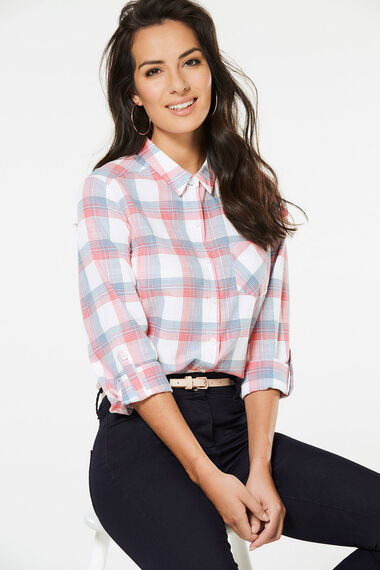 Check Shirt With Roll Sleeves