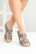 Cushion Walk Rhodes Embellished Mule Wedge